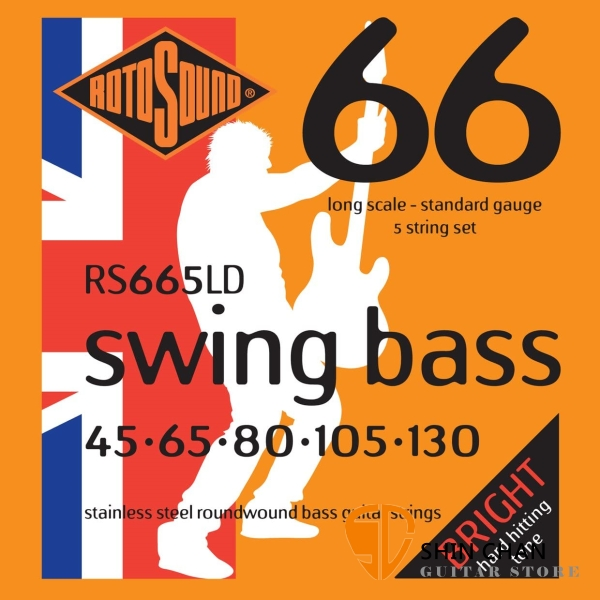 ROTOSOUND RS665LD 5弦電貝斯弦 (45-130)【英國製/BASS弦/RS-665-LD】
