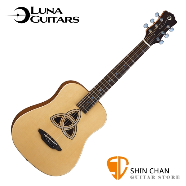 美國品牌 Luna Mini 36吋小吉他 Trinity 民謠吉他 附贈原廠Luna Baby吉他袋 / 旅行吉他 / 兒童吉他
