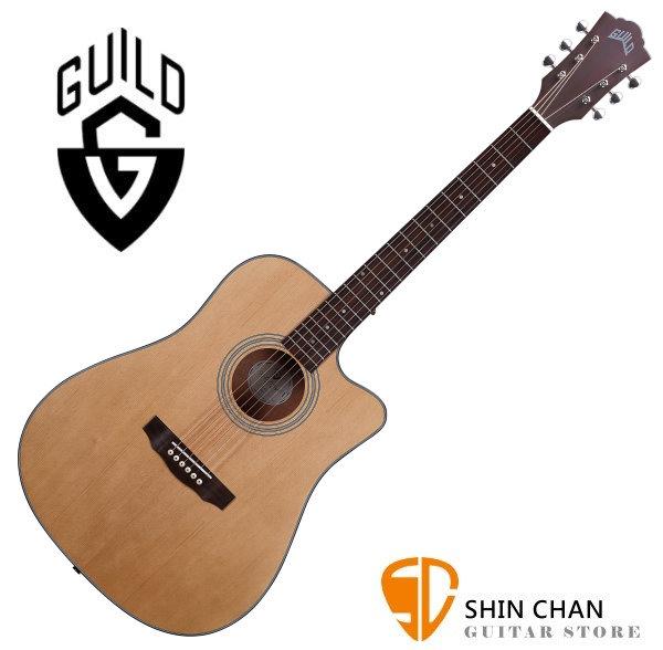 Guild 美國吉他品牌 Guild D-340C 雲杉面單板 / 桃花心木側背板 附 Guild 原廠吉他厚袋 台灣公司貨 D340C