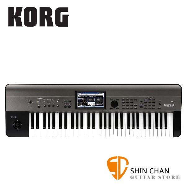 Korg Krome EX 61鍵數位合成器/編曲工作站【原廠公司貨一年保固/半配重鍵盤/Music Workstation/Krome EX-61】