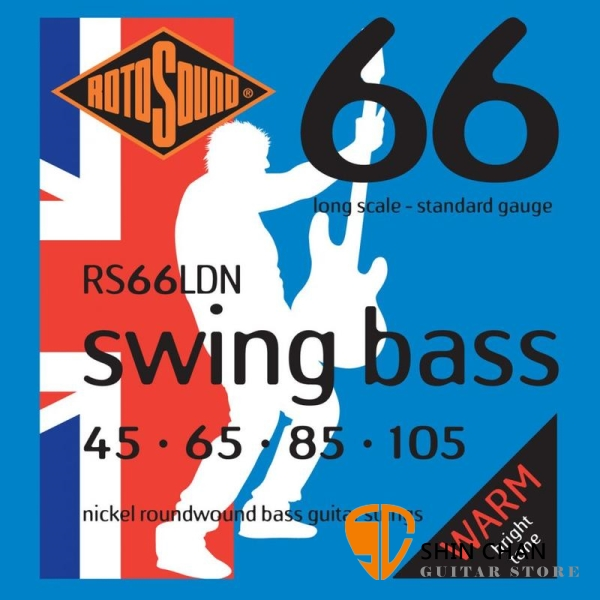 ROTOSOUND RS66LDN 電貝斯弦 (45-105)【英國製/BASS弦/RS-66-LDN】