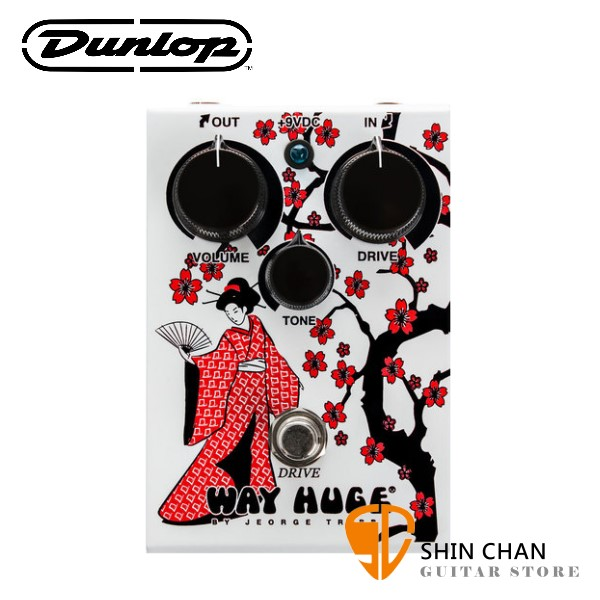 Dunlop WHE302GR 破音效果器【Way Huge/Drive/WHE-302】