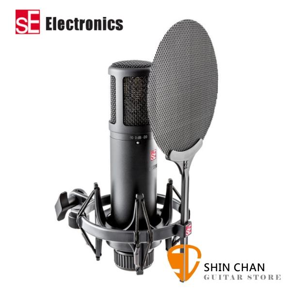 sE Electronics 英國 sE2200 電容式錄音室麥克風組 心形指向 內附 噴麥罩/防震架