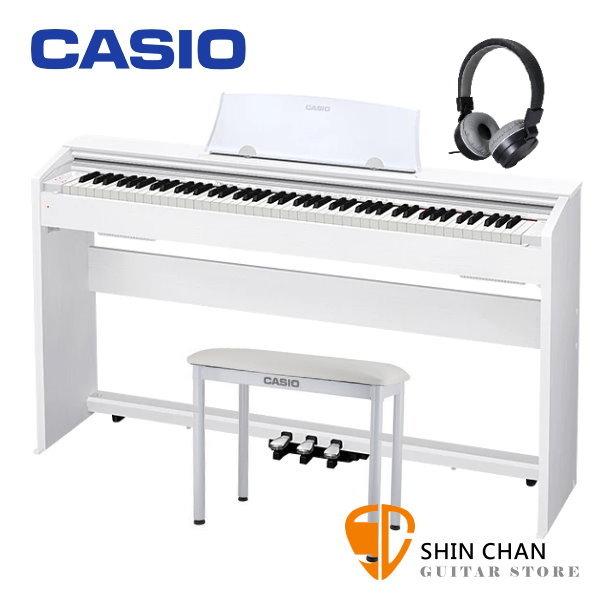 Casio PX-770 滑蓋式 電鋼琴 88鍵 白色 / 含原廠腳架 / 三音踏板 / 琴椅 台灣卡西歐公司貨 贈送耳機 PX770