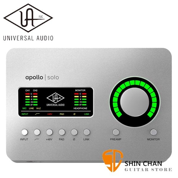 Universal Audio Apollo Solo USB 3 錄音介面  台灣總代理公司貨保固 適用於Windows【USB 3 介面】