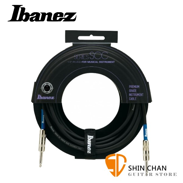 Ibanez SCC15 雙直頭 15呎 樂器專用導線【吉他/貝斯/鍵盤/KEYBOARD/電子鼓適用/SCC-15】