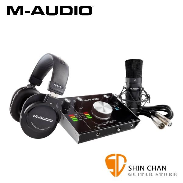 M-AUDIO M-TRACK 2X2 Vocal Studio Pro 錄音套裝組 24-bit/192kHz USB介面 PC/Mac 原廠公司貨 一年保固 【2進2出/內附麥克風、耳機、麥克風線】