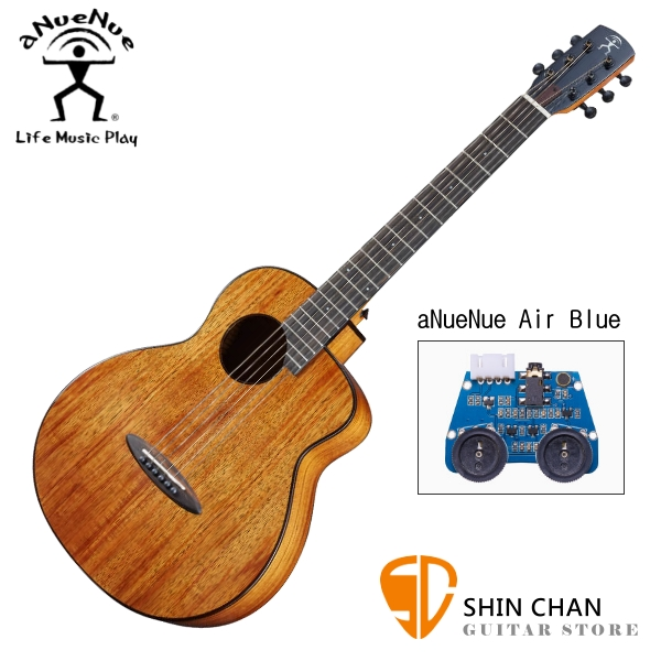 aNueNue M32E 單板 相思木 36吋 可插電 民謠吉他 / 旅行吉他 BABY吉他/鳥吉他 附小小收納袋、PICK、貼紙、胸章、琴布、原廠琴袋