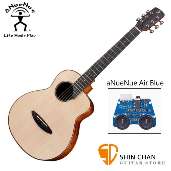 aNueNue M52E 36吋小吉他 可插電民謠吉他 單板雲杉木+相思木側背板 附贈anuenue原廠吉他袋【旅行吉他】