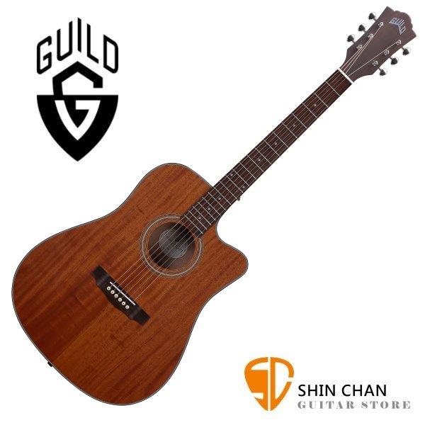 Guild 美國吉他品牌 Guild D-320C 桃花心木面單板 / 桃花心木側背板 附 Guild 吉他厚袋 台灣公司貨 D320C