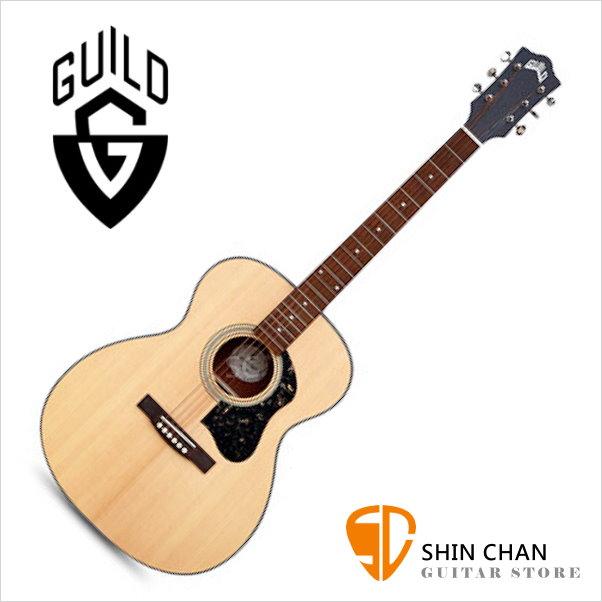 Guild 美國吉他品牌 Guild OM-340 雲杉面單板 / 桃花心木側背板 附 Guild 原廠吉他厚袋 台灣公司貨 om340