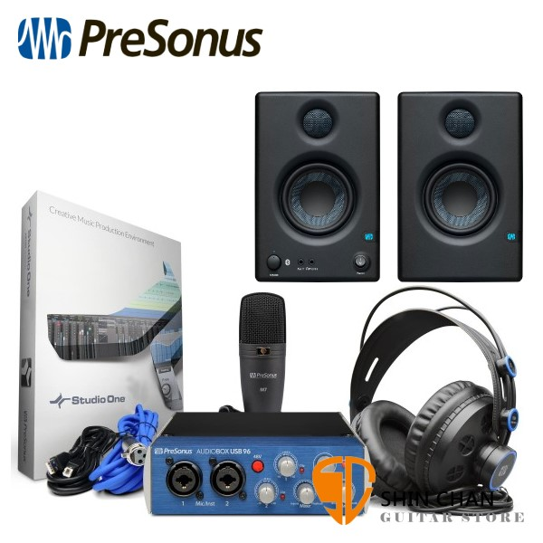 Presonus AudioBox 96 Studio Ultimate 行動錄音套裝組【原廠公司貨一年保固/含Eris E3.5監聽喇叭一對】