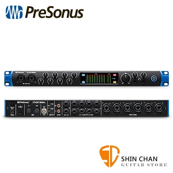 Presonus Studio 1824c 18進20出 錄音介面/錄音界面 USB-C 最高取樣頻率192 kHz【原廠公司貨 一年保固】