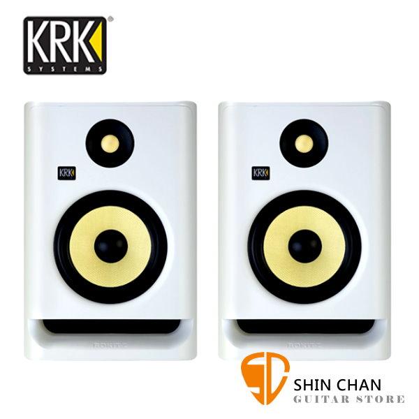KRK Rokit RP5G4 主動式監聽喇叭/5吋錄音室專用(白色/一對二顆)台灣公司貨保固