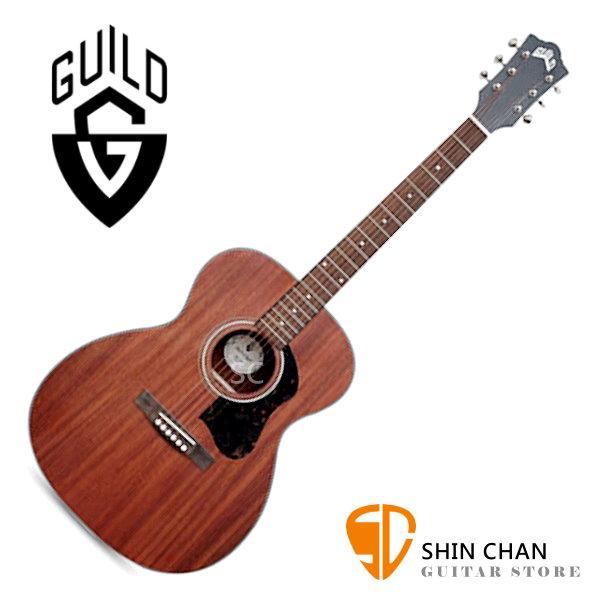 Guild 美國吉他品牌 Guild OM-320 桃花心木面單板 / 桃花心木側背板 附 Guild 吉他厚袋 台灣公司貨 om320