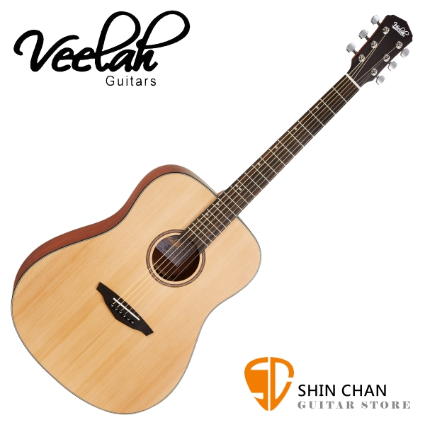Veelah 吉他 VDSM 雲杉木 民謠吉他 附贈Veelah原廠琴袋 D桶身 台灣公司貨【木吉他】