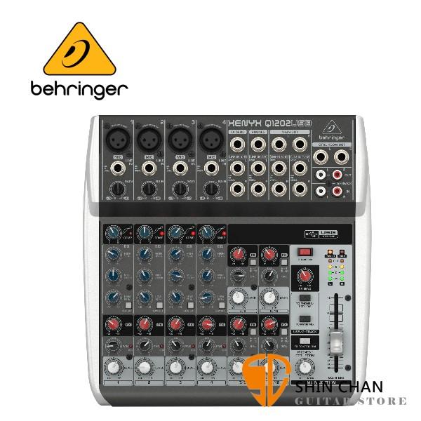 Behringer 耳朵牌 XENYX Q1202USB 12軌混音器【USB介面/原廠公司貨保固】