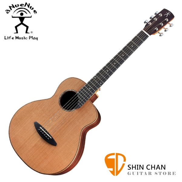 aNueNue M60 36吋小吉他 民謠吉他 單板紅松木+玫瑰木側背板 附贈anuenue原廠吉他袋【旅行吉他】