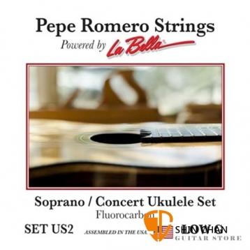 Pepe Romero Strings 碳纖維 21-23吋 Low G 烏克麗麗弦 型號: SET US2【La Bella】