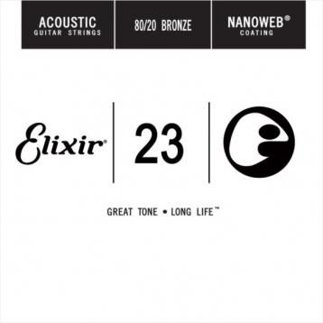 Elixir 木吉他弦 15123 第3弦 第三弦 黃銅 Nanoweb /單弦 .23 elixir零弦 台灣公司貨