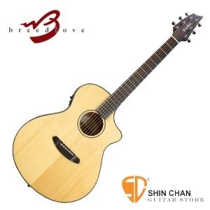 breedlove 吉他 ►Breedlove 美國品牌手工吉他 面單板/可插電 Concert 琴身(型號:Discovery Concert CE )原木色 DCC21CE