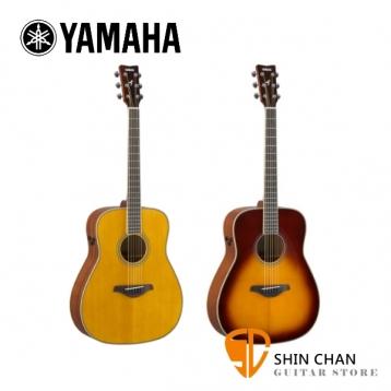 YAMAHA 山葉 FGTA 41吋 可插電單板 民謠吉他 FG TA 附原廠厚袋、Pickx2、移調夾、導線、背帶【型號:FG-TA/D桶身/電木吉他】