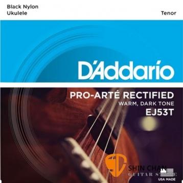 D'Addario EJ53T 26吋烏克麗麗弦 銀繞黑色尼龍弦/1套4條弦【Tenor Ukulele/DAddario】