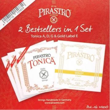 Pirastro Tonica 412027 小提琴套弦 4/4 專用 尼龍弦【Gold Label E/E弦金色標籤】