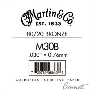 Martin 木吉他弦 第4弦單弦一條(M30B)【吉他弦專賣店/進口弦/M-30B】