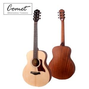 Comet Mini-E 可插電小吉他(Lasre內建調音器6段EQ)旅行吉他 38吋(雲杉面板/桃花心木側背板)原廠配置美國D'addario弦/電木吉他)附贈Pickx2、移調夾、導線、背帶、吉他袋