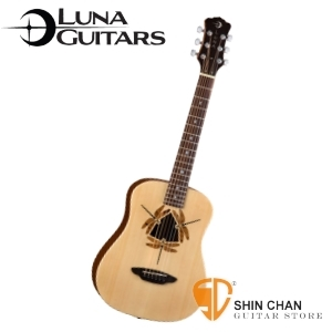 Baby吉他 ► 美國品牌Luna Mini 36吋小吉他 SAFARI DRAGONFLY(雲杉木面板/桃花心木側背板) SAF-DF-MAT 蜻蜓 附贈原廠Luna Baby吉他袋 / 旅行吉他 / 兒童吉他