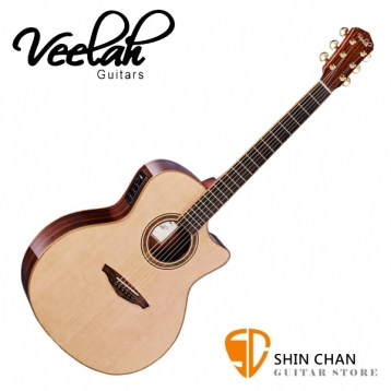 Veelah 吉他 V5-GACE 單板 可插電 民謠吉他-附贈Veelah木吉他琴袋 GA桶身 台灣公司貨 Veelah V5GACE 木吉他