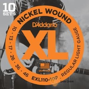 電吉他弦►D'Addario EXL110-10P 一組十套 電吉他弦【DAddario/進口弦/EXL-110】