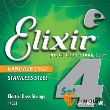 Elixir Nanoweb 不鏽鋼 電貝斯弦(.045~.100)14652【BASS弦/Elixir貝斯弦專賣店/進口貝斯弦】