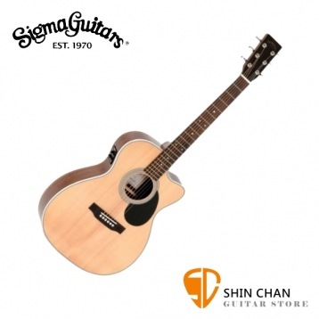 直購直殺↘ Sigma OMMRC-1STE 可插電 吉他 41吋 西卡雲杉木 面單板 / 桃花心木側背板 / OM桶身 附贈吉他袋 /源自Martin吉他工藝