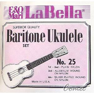 La Bella Baritone No.25 Ukulele 上低音烏克麗麗弦【Ukulele專賣店】