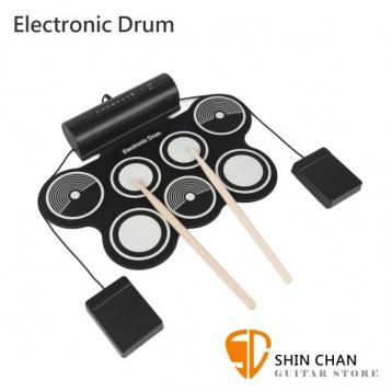 電子鼓推薦熱銷 Electronic Drum MD759 手捲電子鼓/電子爵士鼓/電子鼓板 體積小/好收納/初學者超適用/高靈敏/附多項配件【MD-759】附原廠變壓器