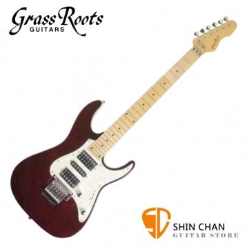 Grass Roots Esp 副廠 酒紅色 雙單雙 大搖座電吉他 附琴袋、背帶、Pick×2、琴布、導線