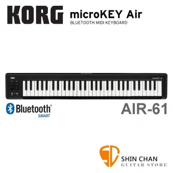 KORG microKEY2 Air-61 61鍵 迷你MIDI控制鍵盤 藍芽/USB介面 原廠公司貨 一年保固 適用iPhone/iPad/Mac/Pc microkey