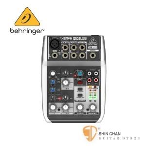 混音器 德國Behgringer Q502usb 5軌混音器(附USB線,可當錄音介面)【耳朵牌/Q-520/USB介面/XENYX】