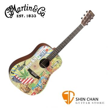 Martin DX420 41吋 可插電 限量彩繪民謠吉他 桶身: D桶【DX-420/電木吉他/台灣總代理/公司貨】
