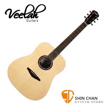 Veelah吉他 V1-D桶身/面單板-附贈Veelah木吉他袋/V1專用(全配件)/台灣公司貨