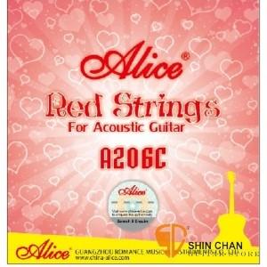 吉他弦> Alice A206C-SL 紅色民謠吉他弦 (.011-.052)【木吉他弦專賣店/A206CSL】