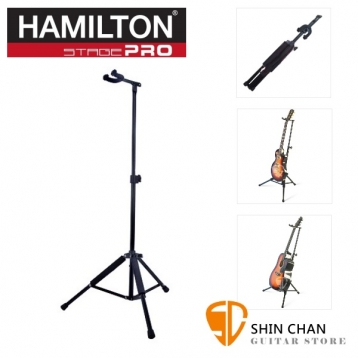 美國 Hamilton 漢米爾頓 KB3000G 頂級吉他架/折疊吉他架 (木吉他 電吉他 貝斯皆可放) 台灣總代理公司貨