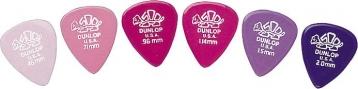 Dunlop 4100 粉色系烏龜彈片(六片組) 【Delrin Standard】