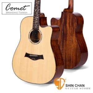 Comet 頂級雲杉鑲貝41吋單板吉他/切角 CD-320 (附贈吉他袋、背帶、Pick、移調夾)CD320 原廠公司貨/保固一年