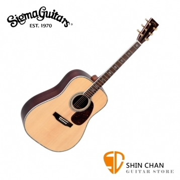 Sigma DR-41 單板民謠吉他/木吉他 41吋 西卡雲杉木面單板 / 印度玫瑰木側背板 / D桶身 附贈吉他袋【源自Martin製琴工藝】