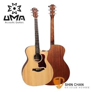 UMA GA-12CNS民謠木吉他(GA琴身)41吋 附UMA原廠吉他袋 GA12CNS