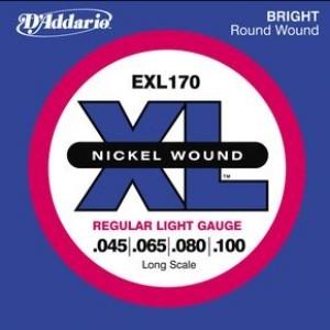 美國D'Addario EXL170 貝斯弦(45~100)【DAddario/進口貝斯弦/EXL-170/DAddario】
