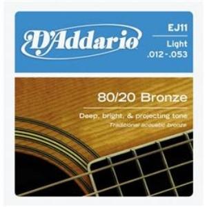 D'Addario EJ11青銅民謠弦(12-53)【DAddario/進口弦/EJ-11】